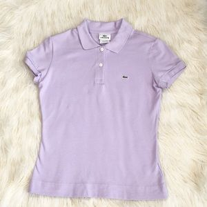 ❤️ Lacoste light purple slim fit polo shirt ❤️